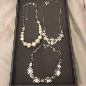 Lia sophia statement necklace bundle/lot